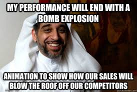 Arab Guy Meme - lovely arab guy meme my performance will end with a explosion