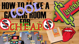 how to make a cool gaming room for cheap youtube