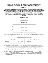 Rental House Lease Agreement Template Free Michigan Rental Lease Agreements Residential Commercial