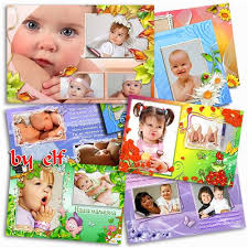 kids photo albums kids psd photo frames for adobe photoshop cs