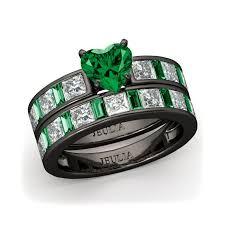 green wedding rings jeulia cut created emerald with emerald sidestone wedding