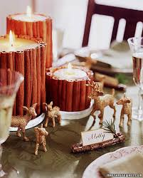 glittered deer table decorations martha stewart