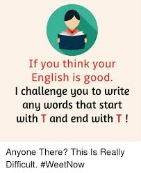 Meme Definition English - if you think your english is good i challenge you to write any words