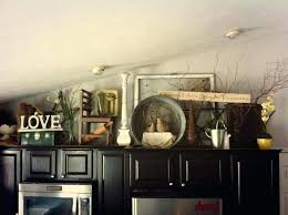 ideas for tops of kitchen cabinets above kitchen cabinets decor advertisingspace info