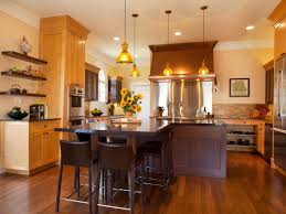 exciting brown wooden and top granite tropical kitchen design with