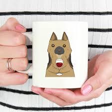 bichon frise funny german shepherd drink wine cool mug dog funny coffee mugs 11 oz