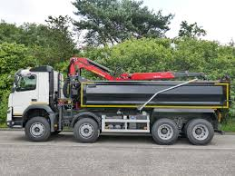 volvo 870 truck 32 tonne volvo fmx 420 tipper grab with palfinger epsilon crane