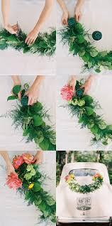 diy wedding getaway garland once wed