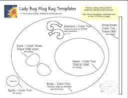 lady bug mug rug the curious quilter