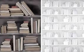 wallpaper that looks like bookshelves faux library finishes vintage bookshelf wallpaper