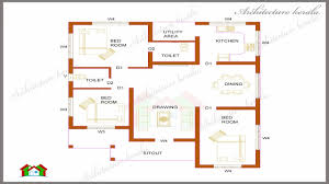 square foot open floor plans 3 bedroom kerala house plan 1200