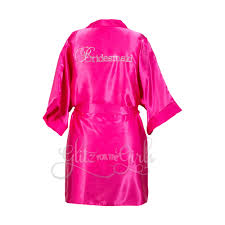 fuschia children u0027s fuschia satin robe glitz for the girls