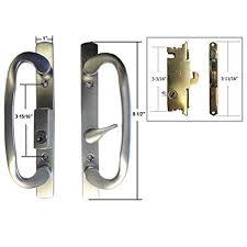 Keyed Patio Door Handle Stb Sliding Glass Patio Door Handle Set With Mortise Lock Brushed