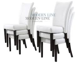 awesome white leather dining room chairs all dining room