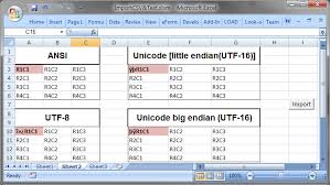 import csv or any delimited text file with unicode encodings in