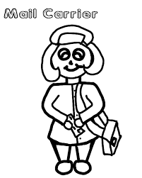 mailman hat coloring page letter carrier coloring page car truck pages on grig3 org