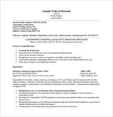 example federal resume sample and for and federal government