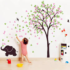 Tree Wall Decor For Nursery 2016 Tree Wall Decal Flower Birds With Elephant Vinyl