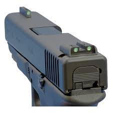 truglo glock low set tritium fiber optic tfo sights