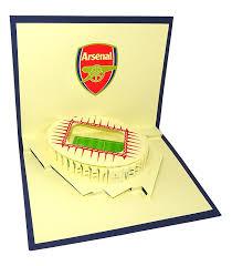 arsenal stadium emirates stadium design 3d pop up card greeting