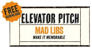 crafting an elevator pitch tone creative
