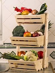 3 fr cuisine 3 niveaux de rangement en bois pour fruits légumes aliments porte