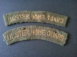 rare ulster home guard shoulder titles