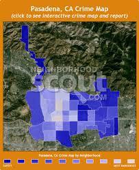 pasadena ca map pasadena ca crime rates and statistics neighborhoodscout