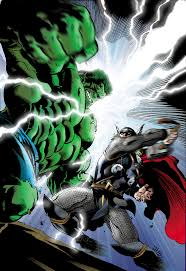 hulk vc thor marvel coloring by andreranulfo on deviantart
