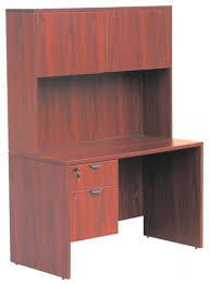 Cherry Wood Computer Desk With Hutch Desk Sauder Cinnamon Cherry Finished Wood With Intended For