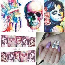online buy wholesale skull nail art stickers from china skull nail