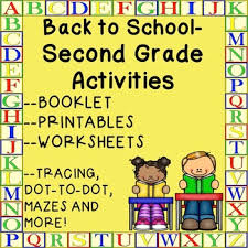 second grade back to worksheets booklet printables activities