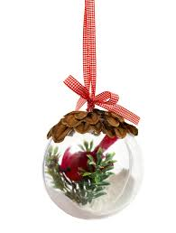 nicole crafts pine cone and cardinal ball ornament ornaments