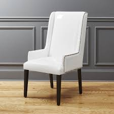 Modern Leather Armchair Reynolds White Patent Leather Chair Cb2