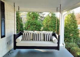 hanging porch beds swinging porch beds sounds like a great thing