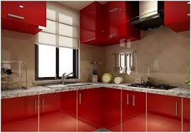 Red Ikea Kitchen - premier engineering acrylic works kitchen decoration