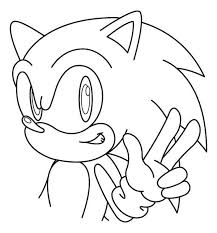 coloring pages sonic peace sign coloring pages sonic coloringstar