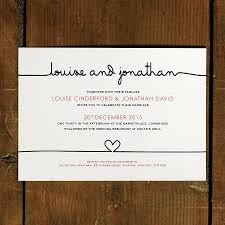 simple and elegant wedding invitation card with plain white