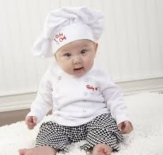 Halloween Costumes For Baby Boy Amazon Com Baby Aspen Baby Chef 3 Piece Layette In Culinary Gift