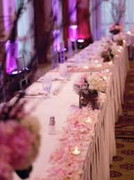 interesting accessories for wedding table decoration with pink and