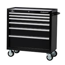 Kennedy Tool Box Side Cabinet Husky 36 In 6 Drawer Tool Cabinet Black H36tr6 The Home Depot