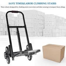 portable stair climbing folding cart climb hand truck dolly backup