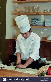 paris france interior japanese restaurant portrait sushi chef