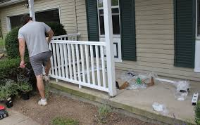 How to install a porch railingand add some curb appeal