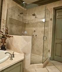 Bathroom Glass Shower Ideas by Bathroom Glass Shower Door With Rain Shower And Nemo Tile Wall