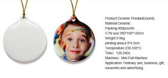 sublimaton ceramic pendant shape sublimation ceramic