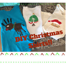 3 diy christmas shirts youtube