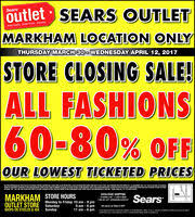 sears outlet black friday sears outlet store in brampton on 800 267 3277 shopping