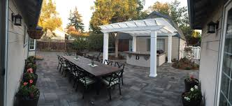 freestanding williamsburg fiberglass pergola kit california