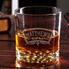 personalized glasses wedding party engraved buckman whiskey glass